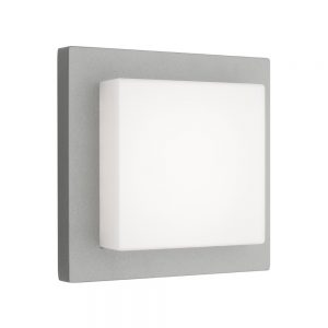 BODO EXTERIOR SILVER SQUARE LED WALL LIGHTS