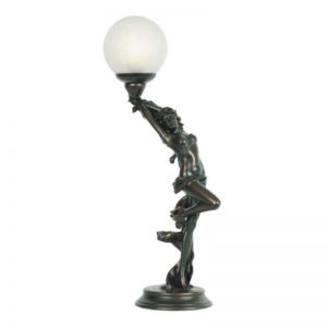 G & G Bros Bronze Art Deco Lamp TL-05Y