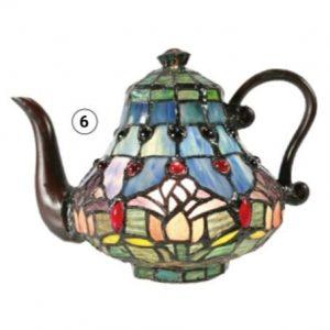 Mauve Tulip Teapot Lamp