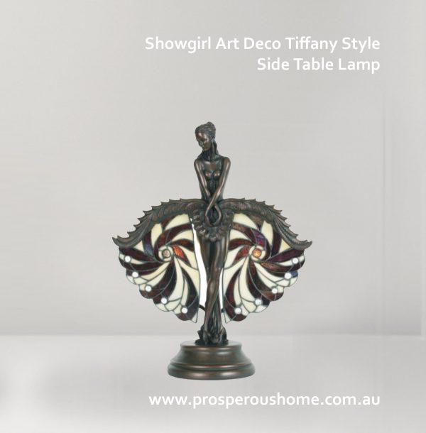 SHOWGIRL ART DECO TIFFANY LAMPS