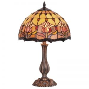 antique style Victorian Table lamps - 17-inch-red-tulip-table-lamp