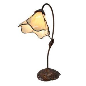 G & G Bros Single Lotus Lamp Beige