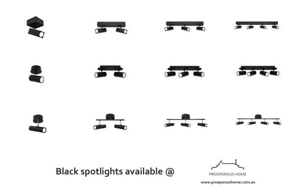 Black LED Spotlights Australia